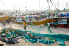 在Mirissa的鱼市 库存照片