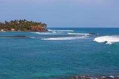 在Mirissa附近的印度洋 免版税库存图片