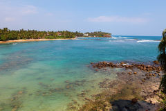 在Mirissa附近的印度洋 图库摄影