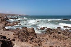 在Mirleft -摩洛哥的路上 免版税图库摄影