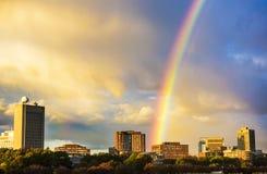 在MIT的彩虹 免版税库存图片