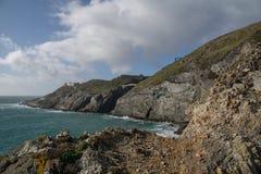 在Mizen头的剧烈的风景在大西洋海岸 免版税库存照片