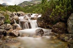 在Mlynicka谷的山水在Strba塔恩省附近 免版税库存图片