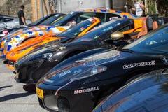 在Modball集会的Supercars在卢森堡 库存图片