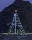 在Mojacar的圣诞灯 免版税库存图片
