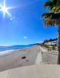 在Mojacar的海滩 免版税库存图片