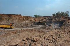 在Mojokerto,印度尼西亚损坏了环境 免版税图库摄影