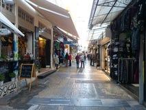 在Monastiraki街道,雅典上的销售 图库摄影