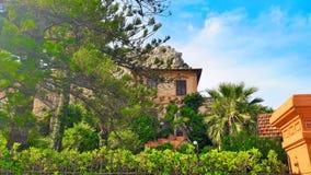在Mondello附近的一个历史的房子 免版税库存照片