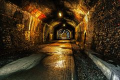 在Monsal足迹的隧道 图库摄影
