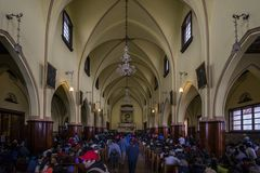 在Monserrate修道院里面 库存图片