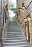 在Mont圣徒米谢尔围场修道院里。 免版税库存图片