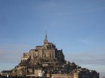 在Mont圣米歇尔的日落 库存图片