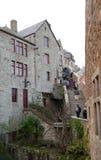 在Mont里面圣米歇尔墙壁  免版税图库摄影