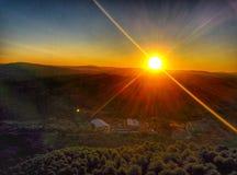 在montains的日出 图库摄影