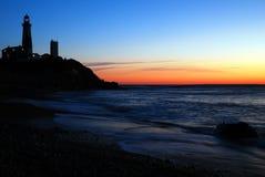 在Montauk光的黎明 免版税库存图片