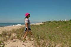在Montauk,长岛纽约,美国的海滩天 库存图片