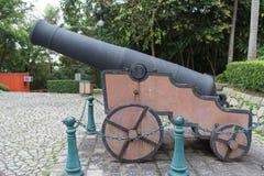 在Monte堡垒的古老大炮 免版税图库摄影