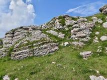 在Monte Baldo顶部,意大利 免版税库存图片