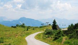 在Monte Zoncolan的风景 库存图片