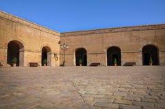 在Montjuic内城堡,在巴塞罗那 库存图片
