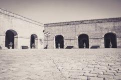 在Montjuic内城堡,在巴塞罗那 免版税图库摄影