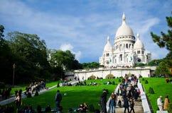 在Montmartre,巴黎的Sacre Coeur 图库摄影