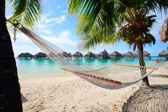 在Moorea的理想的海滩 免版税库存图片