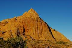 在Moqui小山,犹他附近的岩石 免版税库存图片