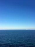 在Moraira西班牙的海天线 免版税库存图片
