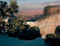 在Moran点,大峡谷国家公园,亚利桑那的日落 免版税图库摄影