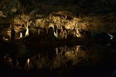 在Moravian石灰岩地区常见的地形,捷克共和国的Punkevní洞 库存图片