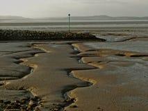 在morcambe海湾, lancashire的看法 免版税库存照片