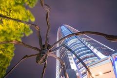 在Mori塔大厦的蜘蛛雕象在六本木新城 免版税库存图片