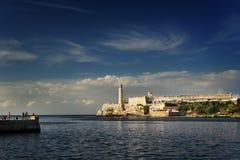 在Morro城堡的灯塔 库存照片