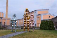 在Moser博物馆和工厂附近的玻璃创作在卡洛维变化, C 免版税库存图片
