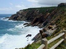 在Mosselbay南非的海岸 免版税库存照片