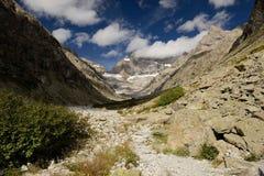 在mountaines的早晨, Alpes 库存图片