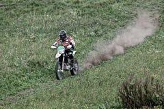 在movimento的摩托车越野赛 库存照片