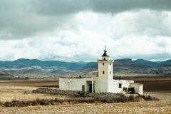 在Mrirt,海尼夫拉省,摩洛哥附近的地方路旁清真寺 库存图片