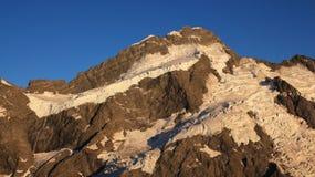 在Mt布伦纳顶部的冰川 图库摄影