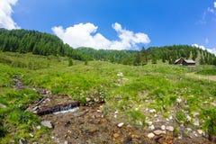 在Mt的小河 Mirnock 免版税库存图片