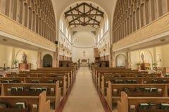 在Mt的教会内部 天使俄勒冈 库存照片