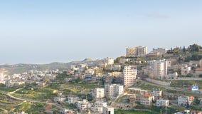 在Mt的早期的光 Herodian,伯利恒,约旦河西岸,巴勒斯坦,是 库存图片