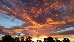 在Mt磁铁的早晨天空 免版税库存照片