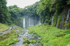 在Mt附近的Shiraito瀑布 富士在富士宫专区, Jap 库存照片