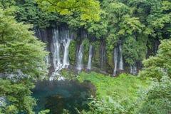 在Mt附近的Shiraito瀑布 富士在富士宫专区, Jap 库存图片