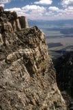 在Mt Moran的岩石支柱 免版税库存照片