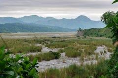 在Mt Pinatubo的多云天空 库存图片