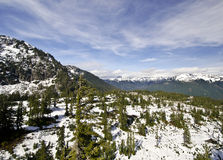 在Mt Shuksan附近的一个看法 免版税库存图片